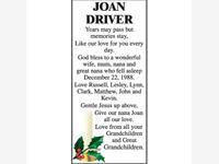 Joan Driver photo