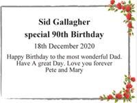 Sid Gallagher photo