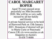 CAROL MARGARET ROPER photo
