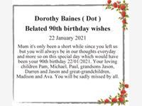 Dorothy Baines ( Dot ) photo