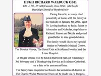 Hugh Richard Walduck OBE.   photo