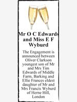 Mr O C Edwards and Miss E F Wyburd photo