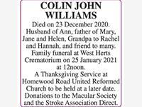 COLIN WILLIAMS photo