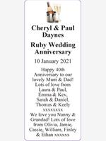 Cheryl & Paul Daynes photo