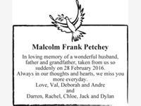 Malcolm Frank Petchey photo