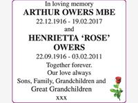 ARTHUR OWERS and HENRIETTA 'ROSE' OWERS photo
