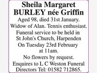 BURLEY Sheila Margaret nee Griffin photo