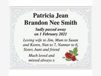 Patricia Jean Brandon Nee Smith photo