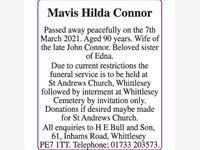 Connor Mavis Hilda photo