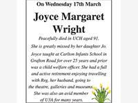 Joyce Margaret Wright photo