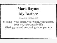 Mark Haynes photo