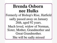 Brenda Osborn nee Hulks photo