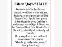 HALE Eileen 'Joyce' photo