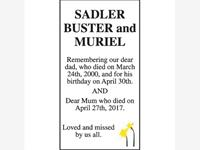 BUSTER AND MURIEL SADLER photo