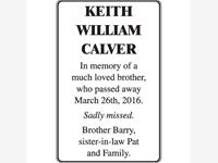 KEITH WILLIAM CALVER photo