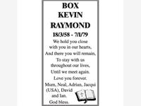 KEVIN RAYOND BOX photo
