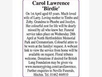 Carol Lawrence 'Birdie' photo