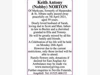 NORTON Keith Antony (Nobby) photo