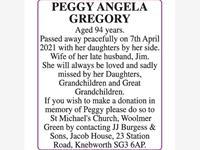 PEGGY ANGELA GREGORY photo