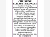 CHRISTINE ELWART photo