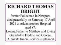 RICHARD THOMAS BRIGHT photo