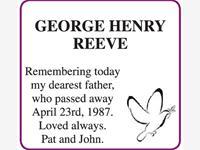 GEORGE HENRY REEVE photo
