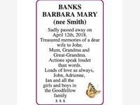 BARBARA MARY (nee Smith) BANKS photo
