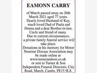 EAMONN CARRY photo