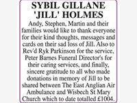 SYBIL GILLANE 'JILL' HOLMES photo