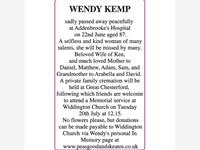 WENDY KEMP photo