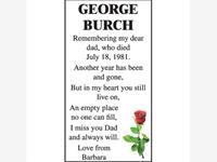 GEORGE BURCH photo