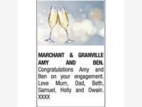 AMY MARCHANT & BEN GRANVILLE photo