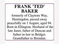 FRANK 'TED' BAKER photo