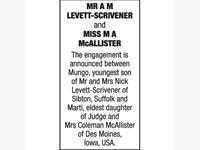 MR A M LEVETT-SCRIVENER and MISS M A McALLISTER photo