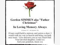 """Gordon SIMMEN aka """"Father Christmas"""" photo"""