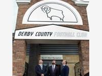 Lionel's sons Will, Matt and Ben at the opening of the Lionel Pickering entrance, Pride Park