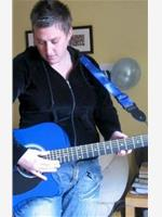 Neat and her blue guitar xx