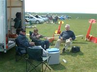 Relaxing with friends at Middle Wallop