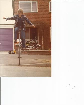 Fred on his Unicycle