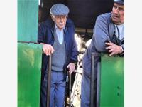Grandad on the footplate