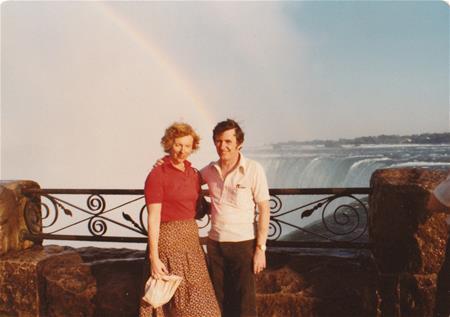 Don and Shirley at niagra falls 1979