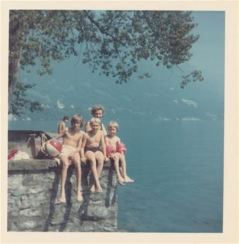Shirley with her boys in switzerland