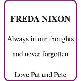 Freda Nixon