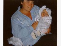 Elaine holding Leanne