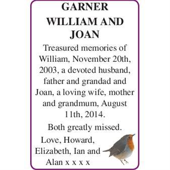 WILLIAM and JOAN GARNER