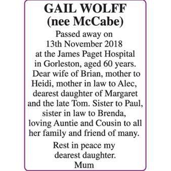 GAIL WOLFF