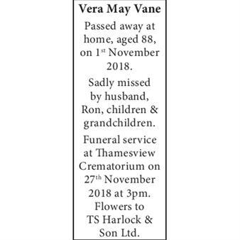 Vera May Vane