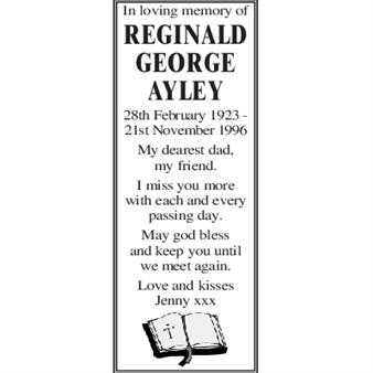 REGINALD GEORGE AYLEY