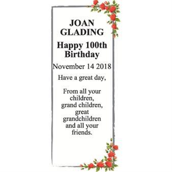 Joan Glading