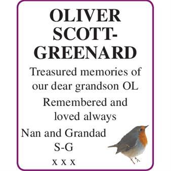OLIVER SCOTT-GREENARD